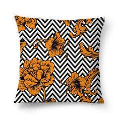 Compre Flower Chevron de @mirellanobrega em almofadas de alta qualidade. Incentive artistas independentes, encontre produtos exclusivos.