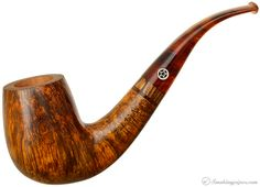 Mark Tinsky Smooth Bent Billiard with Bocote Pipes at Smoking Pipes .com