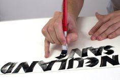 Galería Neuland 2014 – Silvia Cordero Vega – Calligraphy artist Manners, Alphabet, Hobbies, Typography, Calligraphy, Hand Type, Lamb, Lyrics, Letterpress