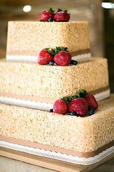 Rice crispy wedding cake