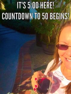  It's 5:00 HERE! The countdown to 50 begins now!    #Author #Writer #BirthdayGirl 
