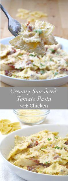 Creamy Sun-Dried Tomato Pasta with Chicken