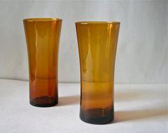 Vintage Kaj Franck Trumpet Glass Tumblers by blueflowervintage, $75.00