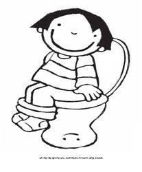 Anna op de grote wc