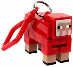 Minecraft Hangers 3 Inch Figure Red Sheep [Chase Variant] New! $29.99