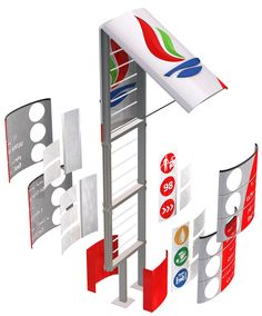 KNPC | Minale Tattersfield Design Strategy Group Pylon Signage, Wooden Signage, Directional Signage, Wayfinding Signs, Outdoor Signage, Lanscape Design, Neon Box, Retail Branding, Sign Board Design