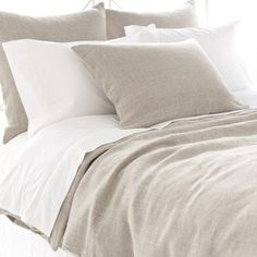 Stone Washed Linen Duvet Cover by Pine Cone Hill Natural - SWLDCQ