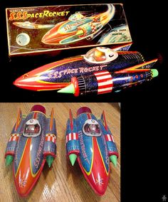 Space Rockets - S S SPACE ROCKET FRICTION VERSION - YOSHIYA - JAPAN - ALPHADROME ROBOT AND SPACE TOY DATABASE