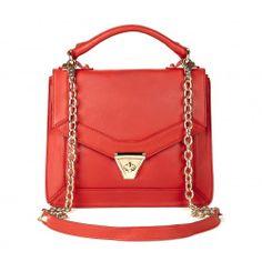 Lisette MEDIUM SHOULDER BAG W/ CHAIN - Poppy
