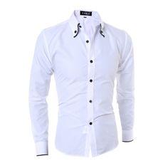 c1affd35362 Men French Cufflinks Shirt 2017 New Men s Shirt Long Sleeve Casual Male  Brand Shirts Slim Fit French Cuff Dress Shirts For Men-in Casual Shirts  from Men s ...