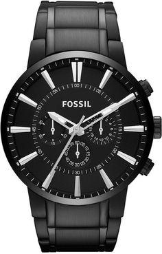Fossil Black Dial Men's Quartz Watch - FS4778 < $101.84 > Fossil Watch Men