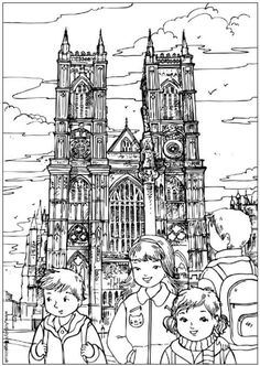 A Lovely Westminster Abbey Colouring Page To Print
