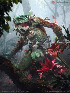 creaturesfromdreams:    Lizard Manby  Diego de Almeida       Featured on Cyrail: Inspiring artworks that make your day better