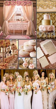 Pink & Gold Wedding Inspiration   A Belle Affair Weddings & Events   Montreal Wedding Planner