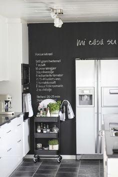 Bertussi: Parede lousa na cozinha