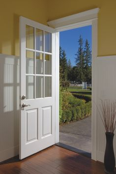 simpson door 37944- french and sash series - love all the windows. Front door inspiration. How to choose a front door for your home.