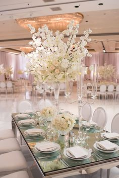 All White Chic Modern Day Wedding