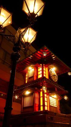 Clock Tower in Matsuyama, Ehime, Japan 道後温泉 時計台