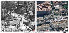 Av. del Metro año 1993 y en la actualidad