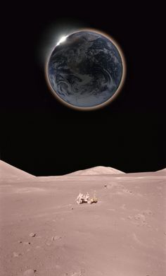 Eclisse solare dalla Luna Earth From Moon, Gods Creation, Astronomy, Nasa, Heaven, Pale Blue Dot, Celestial, Space, Night