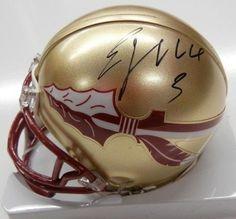 Ej Manuel Signed Mini Helmet #SportsMemorabilia #FloridaStateSeminoles