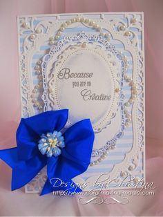 Flowers, Ribbons and Pearls: Pretty in blue ...