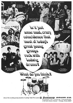 Ludwig drums advertisement - 1968