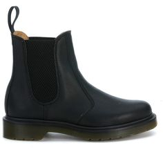 Dr. Martens Shoes ($160) ❤ liked on Polyvore featuring shoes, boots, ankle booties, nero, black booties, dr. martens, leather sole boots, black bootie and bootie boots