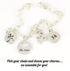 Buy Runner Bracelets & Triathlon Bracelets | 26.2 & 13.1 Charms