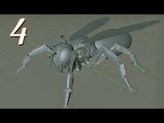 Cinema 4D Tutorials Robot Wasp Modeling & Rigging part 4 - YouTube