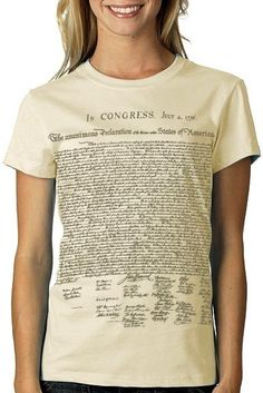 Declaration Independance Tshirt Political by nonfictiontees, $15.00