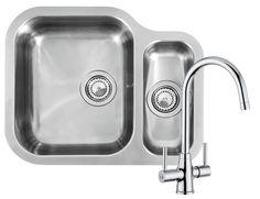 Reginox ALASKA 1.5 Bowl Kitchen Sink and FREE Thames Tap