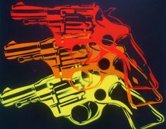 warhol pop guns custom paintingstencils & by AbstractGraffitiShop