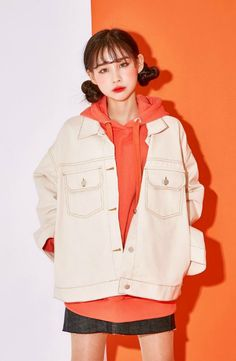 icecream12 - Dual-Pocket Jacket #koreanfashion #koreanstyle #jacket
