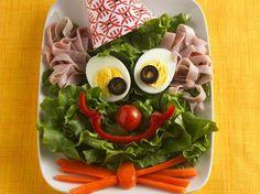 Clown Face Salad #GardenCuizine