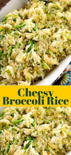 dinner sides Cheesy Broccoli Rice - A fantastic versatile side dish loaded with cheesy broccoli and rice. Use the cheese and vegetable your family loves. Rice Side Dishes, Dinner Side Dishes, Side Dishes Easy, Side Dish Recipes, Food Dishes, Side Dishes For Chicken, Rice Side Recipe, Recipe For Sides, Broccoli Main Dish Recipes