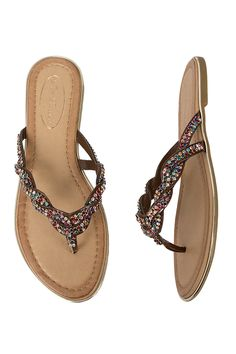 Love a bit of glitz? This multi-coloured pair is for you! Pia Rossini Silvana Shoe Perfect Glamorous Holiday Beach Sandal