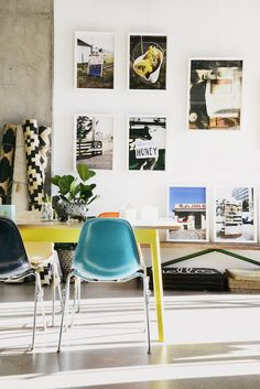 Inspiring Australian style direct from down under // wall art and colorful chairs