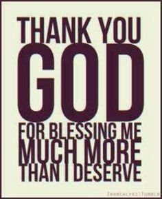 I am so not worthy but Thank You Lord for blessing me in spite of me!!!