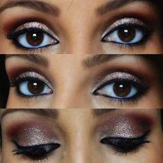 Sombras de ojos para ojos marrones oscuros: fotos maquillaje | Ellahoy