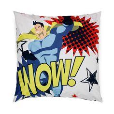 Coussin carré 80x80cm motif super héros Multicolore - SUPER HEROS - Les coussins déco enfants - Les tapis, rideaux et coussins - Univers des enfants - Décoration d'intérieur - Alinéa