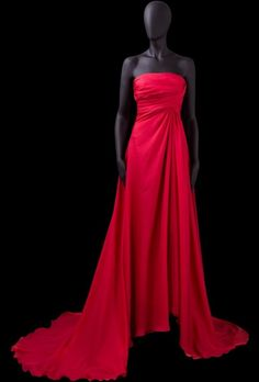 A-line Strapless Ruched Bodice Covered Buttons Chiffon Evening Dress-soe0065,  $169.95