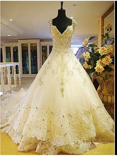 Beauty and the beast themed wedding dress