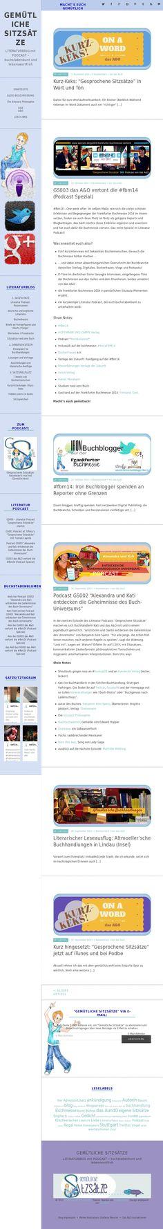 The website 'www.satzsitz.de'. Theme: Namba by Elmastudio