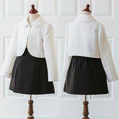 7eb9eca144080  楽天市場 子供服 レース襟シンプルボレロ キッズ フォーマル  女の子 入学式