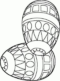 Easter coloring printables: Two Easter eggs