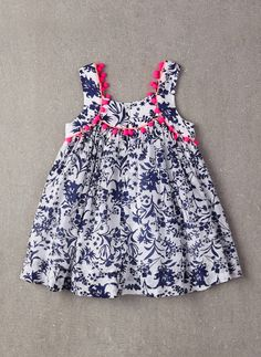 Nellystella Clementine Dress in Floral Motif - FINAL Frocks For Girls, Little Dresses, Little Girl Dresses, Girls Dresses, Girls Frock Design, Baby Dress Design, Baby Frocks Designs, Kids Frocks Design, Toddler Outfits