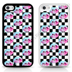 Kylie Jenner Pink Lips Case Cover for iPhone Samsung Blue Lipstick Kylie Lip in…