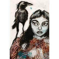 #Πρωί #inspiration #inspoart #Intuitiveart#vintageart Beatnik, Canvas Artwork, Crow, Charcoal, Acrylics, Paper, Instagram, Link, Art On Canvas