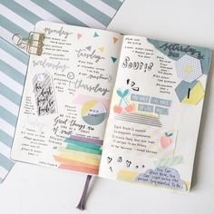 Easy Bullet Journal Ideas To Well Organize & Accelerate Your Ambitious Goals Bullet Journal Month, Bullet Journal Banner, Bullet Journal Notes, Bullet Journal Aesthetic, Bullet Journal Ideas Pages, My Journal, Journal Pages, Weekly Log, Creative Journal